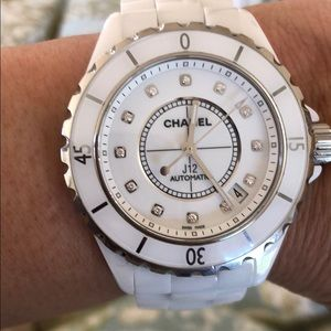 Chanel J12 Watch w/ diamond indicators
